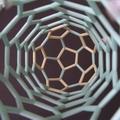 カーボンナノチューブ(アームチェア型)ストロー分子模型(内側)