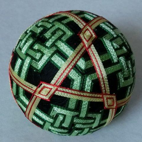 Cuboctahedron Temari