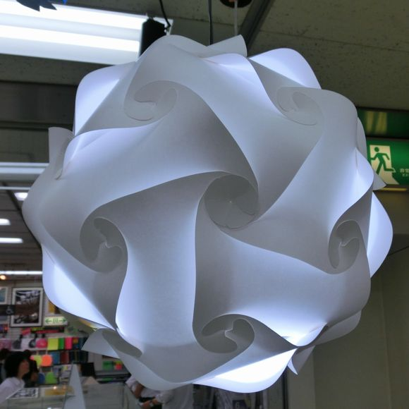 Paper lampshade, icosidodecahedron