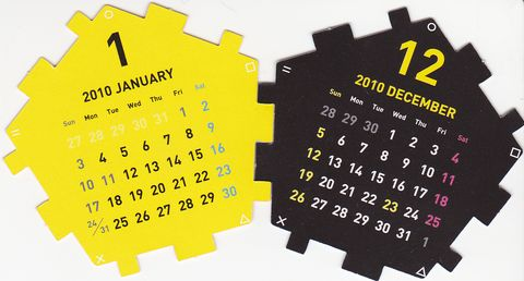 Dodecahedron Calendar Parts