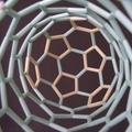 カーボンナノチューブ(ジグザグ型)ストロー分子模型(内側)