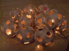 紙バンドの電飾付きセパタクローボール
