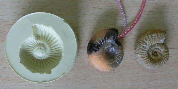 Fossil replica Ammonite
