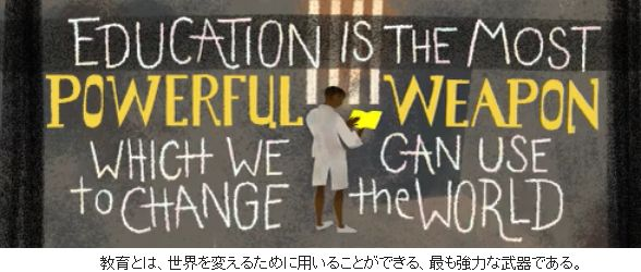 EDUCATION IS THE MOST POWERFUL WEAPON WHICH WE CAN USE to CHANGE the WORLD